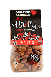 Organic Almonds Chili 100gr bag