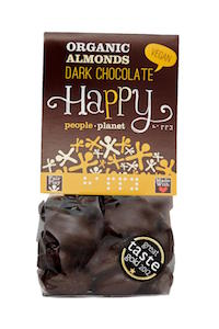 Organic Almonds Dark Chocolate 120gr bag
