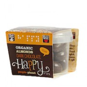 Organic Almonds Dark Chocolate 70gr tub