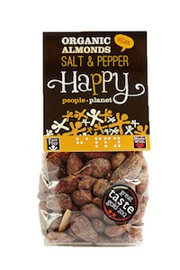 Organic Almonds Salt & Pepper 100gr bag