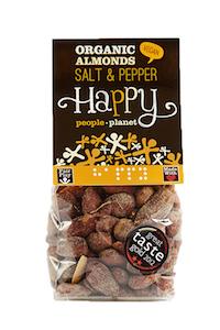 Organic Almonds Salt & Pepper 100gr bag