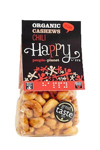 Organic Cashews Chili 100gr bag
