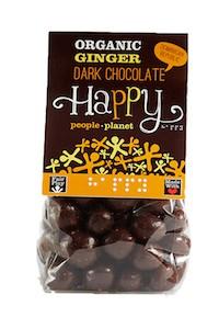 Organic Ginger Dark Chocolate 130gr bag