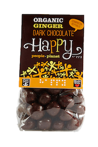 Organic Ginger Dark Chocolate 130gr bag