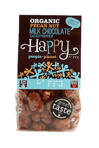 Organic Pecans Milk Choc & Cocoa Powder 100gr bag