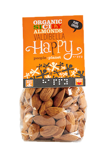 Organic Sicily Almonds - Valdibella 100gr bag