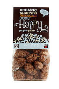 Organic Almonds Dark Choc & Coconut 120gr bag