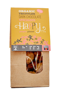 ORGANIC DARK CHOCOLATE TRUFFLE WITH SPECULOOS HAPPY PEOPLE PLANET