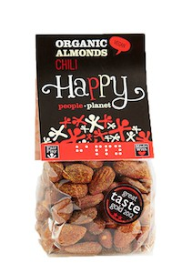 Organic Almonds Chili 100gr bag