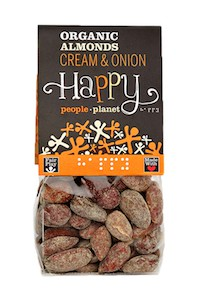 Organic Almonds Cream & Onion 100gr bag