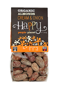Organic Almonds Cream & Onion 100gr bag