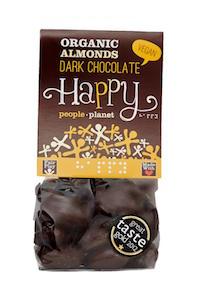 Organic Almonds Dark Chocolate 120gr bag