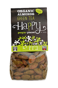Organic Almonds Green Tea 100gr bag
