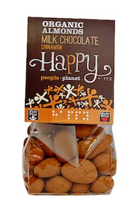Organic Almonds Milk Choc & Cinnamon 120gr bag