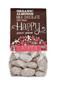 Organic Almonds Milk Choc & Icing Sugar 120gr bag