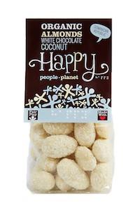 Organic Almonds White Choc & Coconut 120gr bag