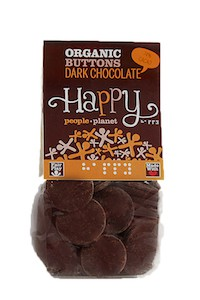 Organic Buttons Dark Chocolate 150gr bag ed