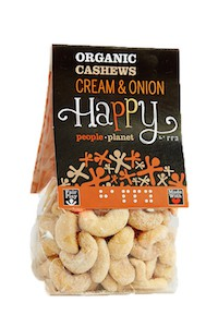 Organic Cashews Cream & Onion 100gr bag