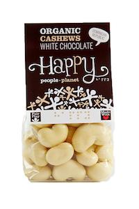 Organic Cashews White Chocolate 130gr bag