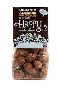 Organic Almonds Dark Choc & Coconut 120gr bag